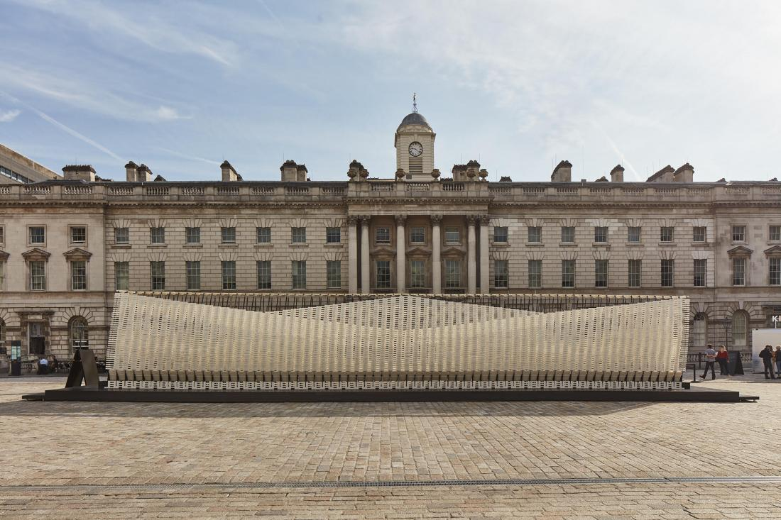 The Greece Pavilion in 2018 by Studio INI in the courtyard of Somerset House